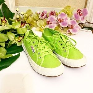 SUPERGA | LIME GREEN CANVAS SNEAKERS